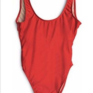dd0a6ee211a Dixperfect Swim - Dixperfect NWT red one piece size M